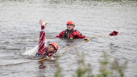 Black Watch firefighters carry out a water rescue
