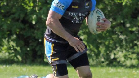 St Albans Centurions' Joe Shaw was in fantastic form against Brentwood Eels. Picture: Darryl Brown