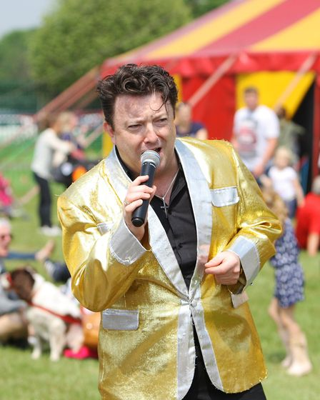 Herts County Show 2018 - Elvis Tribute Band entertain the crowds.Picture: Karyn Haddon