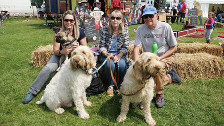 Herts County Show 2018 - The Montgomery Family with dogs Albert,Luca and Rossi enjoying the day out.