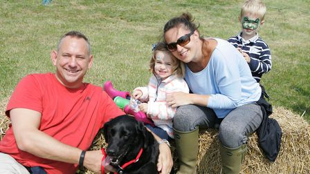 Herts County Show 2018 - The Hawken Family with dog Maisy.Picture: Karyn Haddon