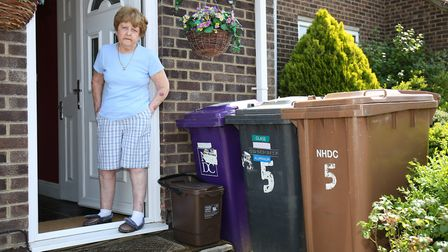 Mary Hall, who has parkinson's disease, has been having problems with her bin collection by North He