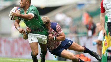 Elliott Byfield scored two tries for Hertfordshire. Picture: PAUL HARDING/PA