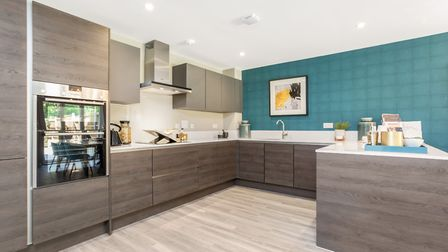 Features at the Lancaster Grange show home include a fully-fitted Nobilia kitchen
