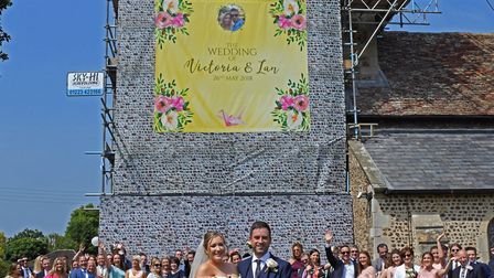 The wedding of Victoria and Ian in Little Paxton. Picture: ARCHANT