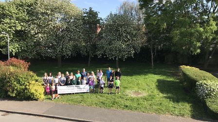 Wynches Farm Drive residents on the green space. Picture: Natalie Henderson