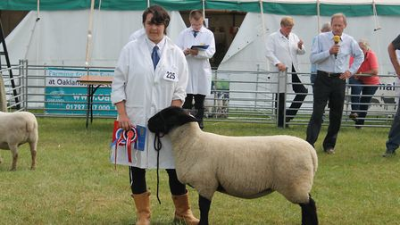 The winning Suffolk Shearling. Picture: Oaklands College
