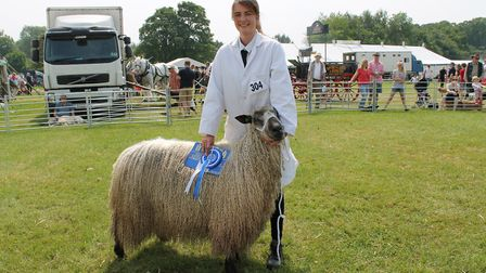 The longwool Teeswater which won reserve. Picture: Oaklands College