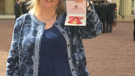 Dr Kim Taylor with her OBE