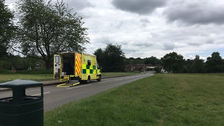 The ambulance on The Common, Redbourn.