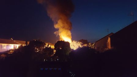 Shed fire at Needingworth