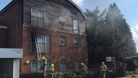 Firefighters tackling a blaze in St Albans. Picture: St Albans fire crew