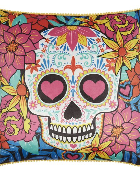 Sugar skull cushion, reduced from £6 to £4.80, George Home (Picture credit: George Home/PA Photo/Han