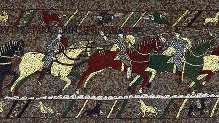 The Bayeux Tapestry mosaic by Michael Linton.