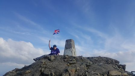 Emma Jenkins at the top of Ben Nevis. Picture: Emma Jenkins