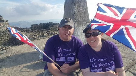 Emma Jenkins, and her husband Peter, at the top of Ben Nevis. Picture: Emma Jenkins