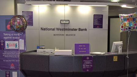 Royston NatWest branch closed yesterday. Picture: David Hatton