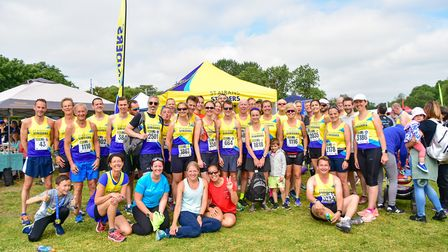 St Albans Striders gather together at the St Albans Marathon. Picture: Kate Tettmar