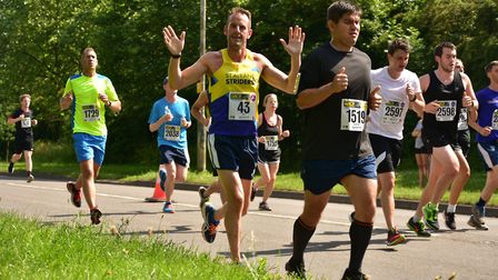 St Albans Striders' Jay A'Court at the St Albans Marathon. Picture: Richard Underwood