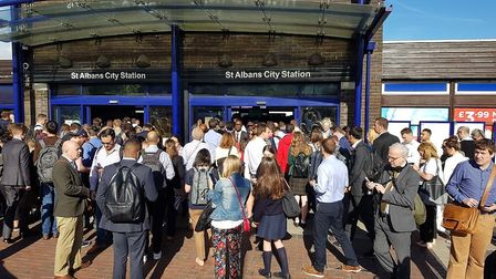 The crowds at St Albans City station. (Picture: Jon Fowler)
