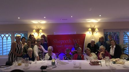 Members of Shepreth WI have celebrated the group's 90th anniversary at Sheene Mill in Melbourn. Pict