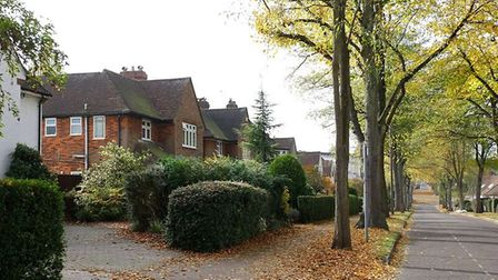 A typical residential street in Letchworth