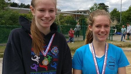 Katie Wright (left) and Shannon Flockhart both won Anglian Schools' Championship titles.