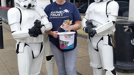 Stormtroopers in Sainsbury's St Albans. (Picture: Rainbow Trust)