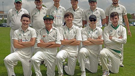 Warboys, pictured ahead of their victory at Huntingdon & District 2nds, are back row, left to right,