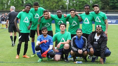 The Challengers football team (Picture: Groundwork)