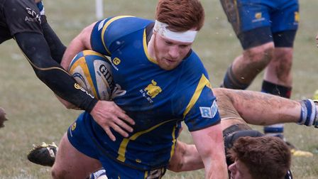 Captain Josh Meadows scored one of the St Ives Roosters tries.