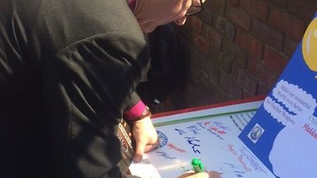 St Albans Bishop Alan Smith was one of the signatories on Saturday. Picture: Laurie Gibson