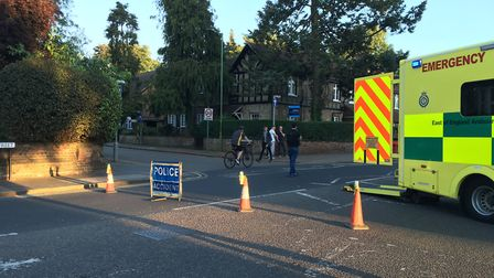 St Peter's Street was closed. Picture: Archant
