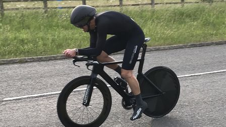 Adrian Beer won the latest St Ives Cycling Club 10-mile time trial.