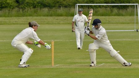 Hayden Bream hit 123 for Sawtry in their Hunts League loss to Biggleswade. Picture: DUNCAN LAMONT