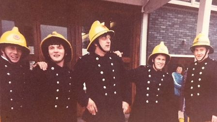 Gerald at the Herts Fire and Rescue Service through the ages. Picture: Herts county council