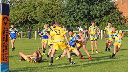 St Albans Centurions U14s played an inter-club game after a scheduled game with Oxford was cancelled
