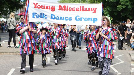 Part of the procession along High Street for the Harpenden Carnival last Saturday. Picture: Karyn Ha