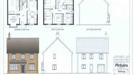 The proposed plans for new homes in Warboys.
