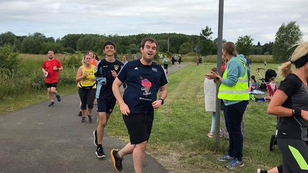 Runners during the first Pocket parkrun in St Neots.