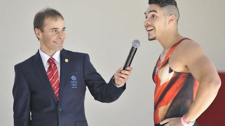 Paul Hall left with Olympic star Louis Smith.