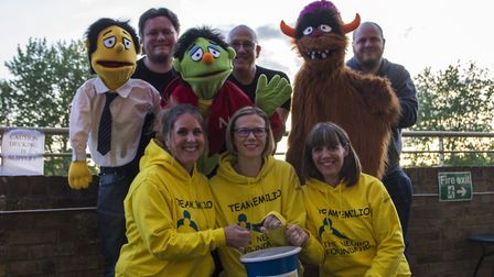 St Neots VAMPS hand over funds to charity