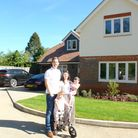 Chef Sophie Wright and family at home in Harpenden