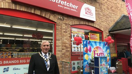 The mayor of St Neots Councillor Barry Chapman opened the store today