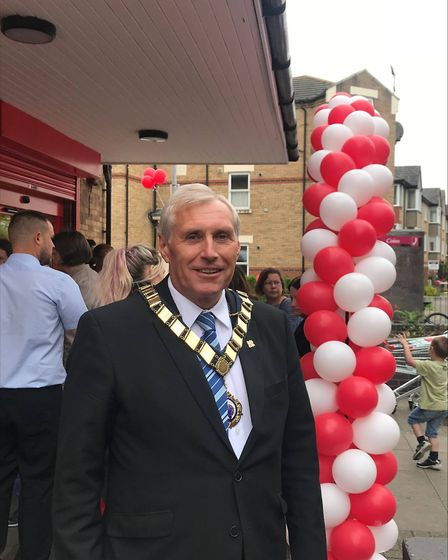 The mayor of St Neots Councillor Barry Chapman