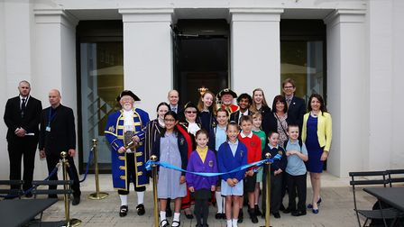 The official opening of the new St Albans Museum + Gallery with the Mayor of St Albans councillor Ro