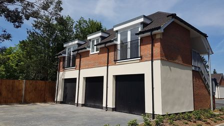 The new affordable homes in the Batchwood Area of St Albans.