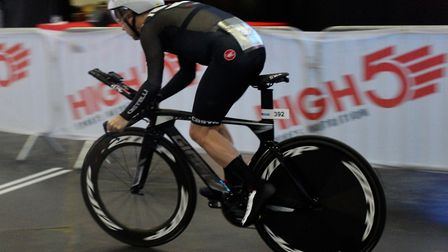 Tim Phillips during the Tour of Cambridgeshire chrono event.