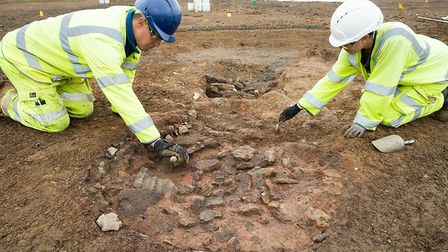 An archelogical dig is taking place at the A14 upgrade site