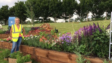 Natalie Forkin is competing live for the Beautiful Borders prize at BBC Gardeners' World Live at Bir